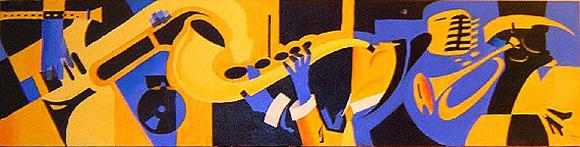 Uno de mis primeros cuadros de temática musical