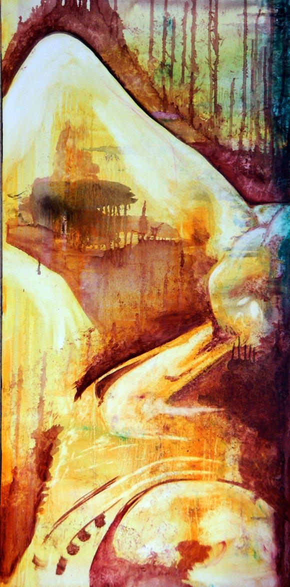 Flamenco (óleo sobre lienzo)