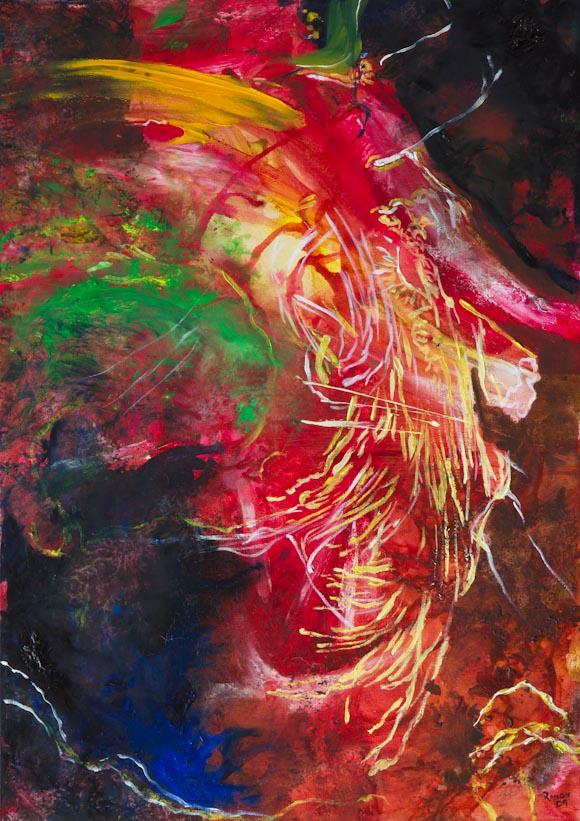 Flamenco 2 (óleo sobre lienzo)