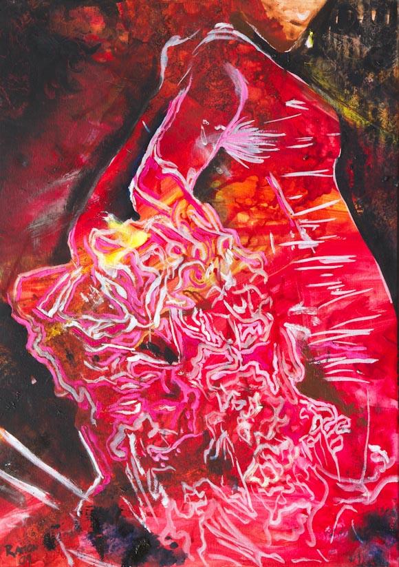 Flamenco 3 (óleo sobre lienzo)
