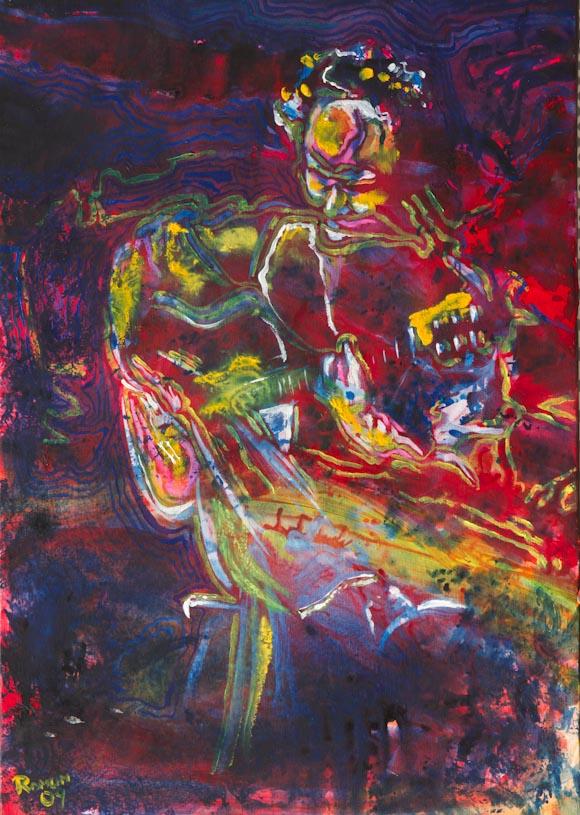 Flamenco 4 (óleo sobre lienzo)