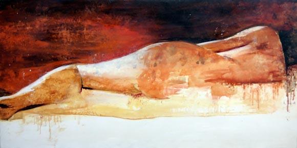 Marta descanso (óleo sobre lienzo)