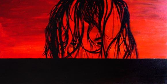 Marta despeinada (óleo sobre lienzo)