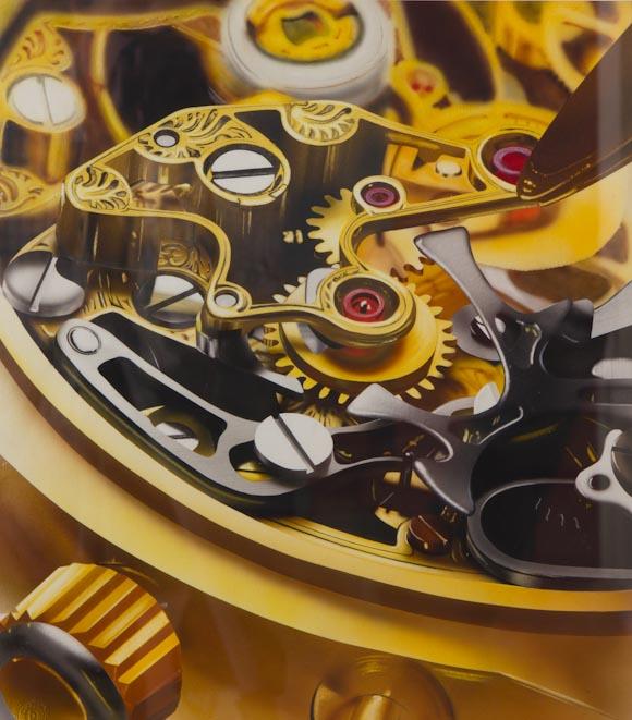 Maquinaria de reloj (aerografía)