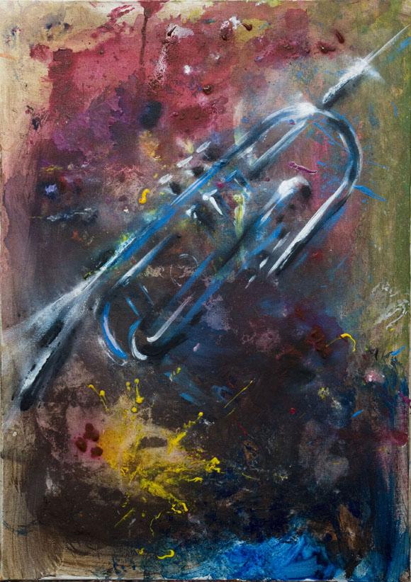 Trompeta 2 (Acrílico sobre lienzo)